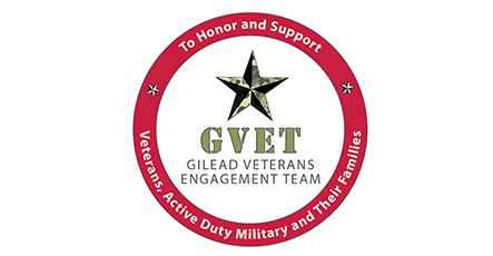 GVET, Gilead's Veteran's Engagement Team logo